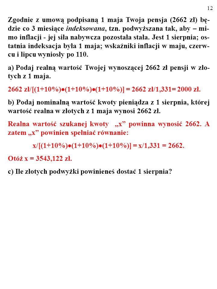 x/[(1+10%)(1+10%)(1+10%)] = x/1,331 = 2662.